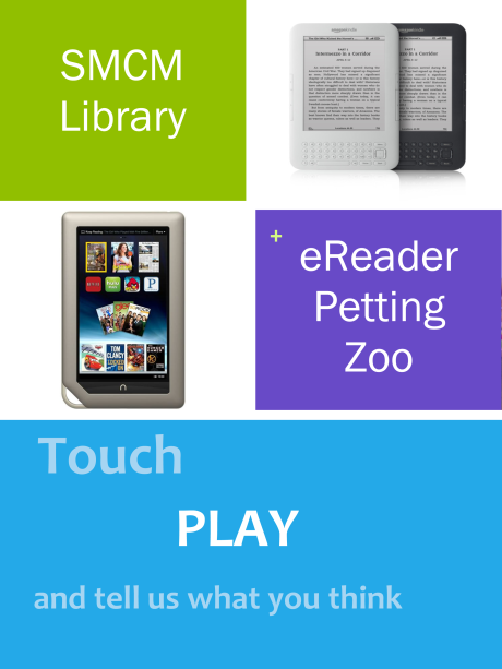 eReader Petting Zoo sign
