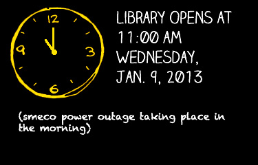 Change in Library Hours Announcement