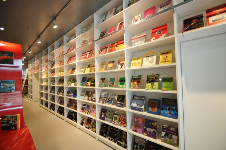 rainbow bookstore wall