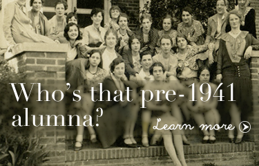 Who's that pre-1941 alumna?