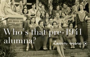 Who's that pre-1941 alumna?