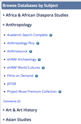 Browse Databases by Subject