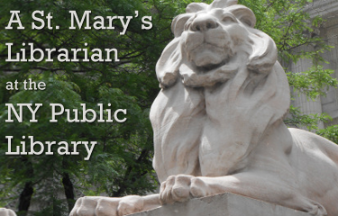 A St. Mary's Librarian at the NYPL