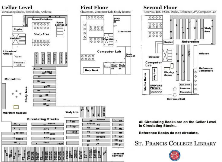 Old St. Francis College Library Map