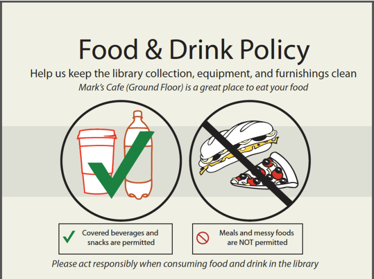 New Food & Drink Policy Sign