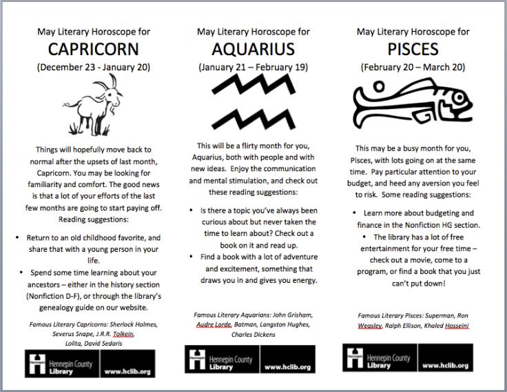 Readers' Advisory Horoscopes