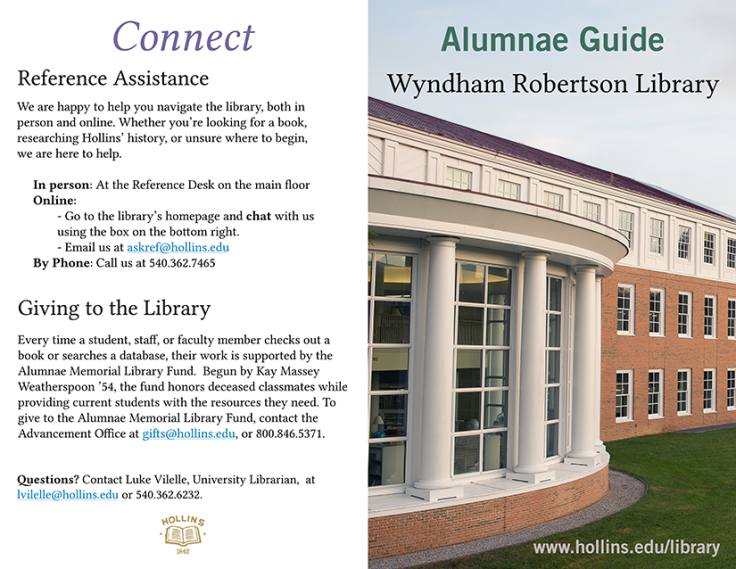 Alumnae Guide Front and Back