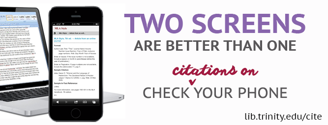 Two Screens Are Better Than One. Check Citations on Your Phone