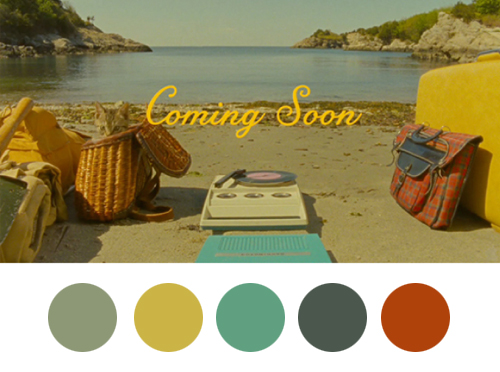 Moonrise Kingdom Color Palette
