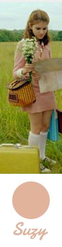 Suzy's amazing pink dress