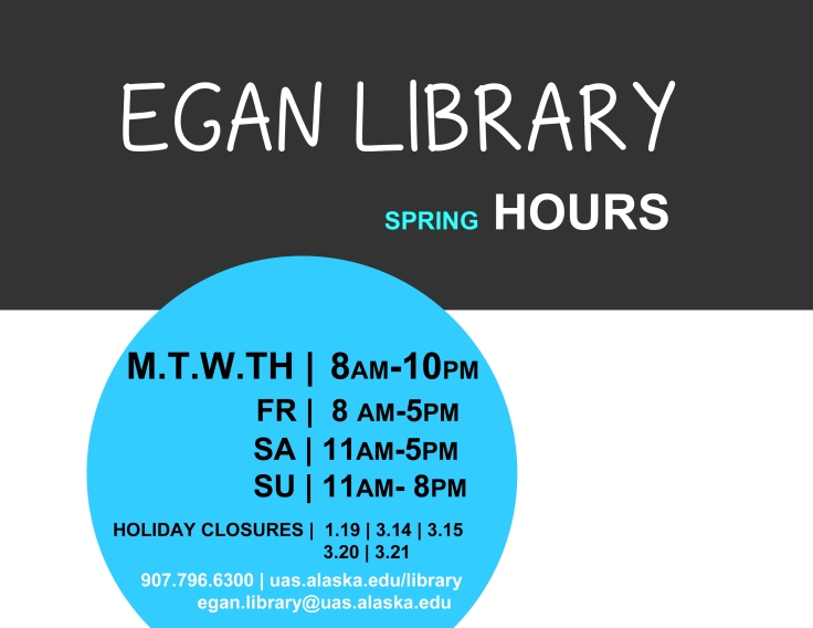 Egan Library Spring Hours