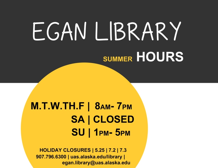 Egan Library Summer Hours