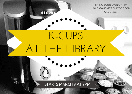 K-Cups at the Library