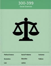 Dewey 300 Social Sciences