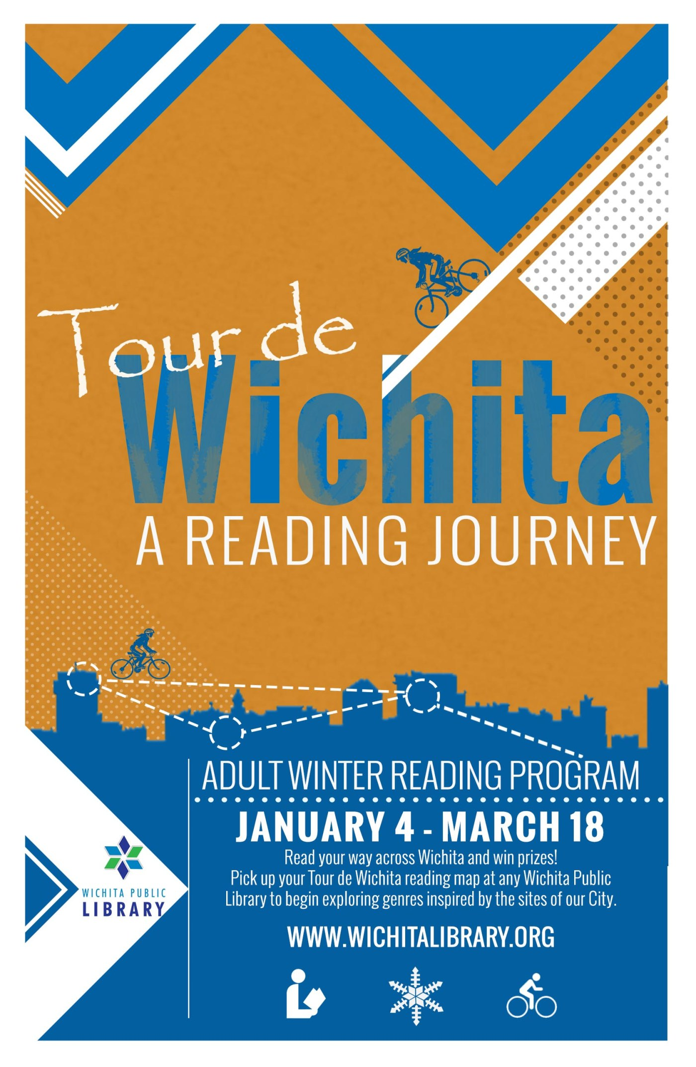 Poster design with qr code - A Reading Journey