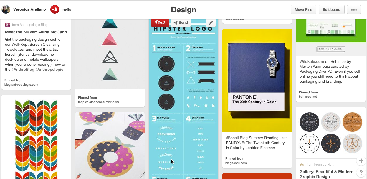 Pinterest Inspiration Librarian Design Share