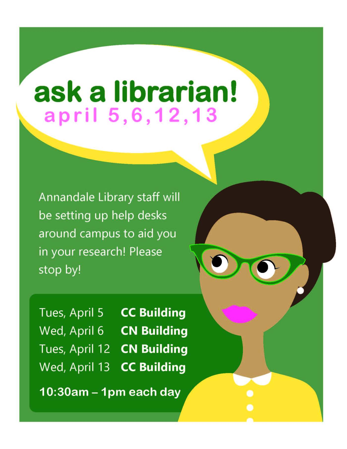 ask a librarian flyer students