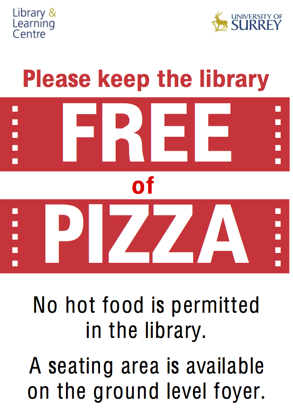 Please keep the library free of pizza (poster)