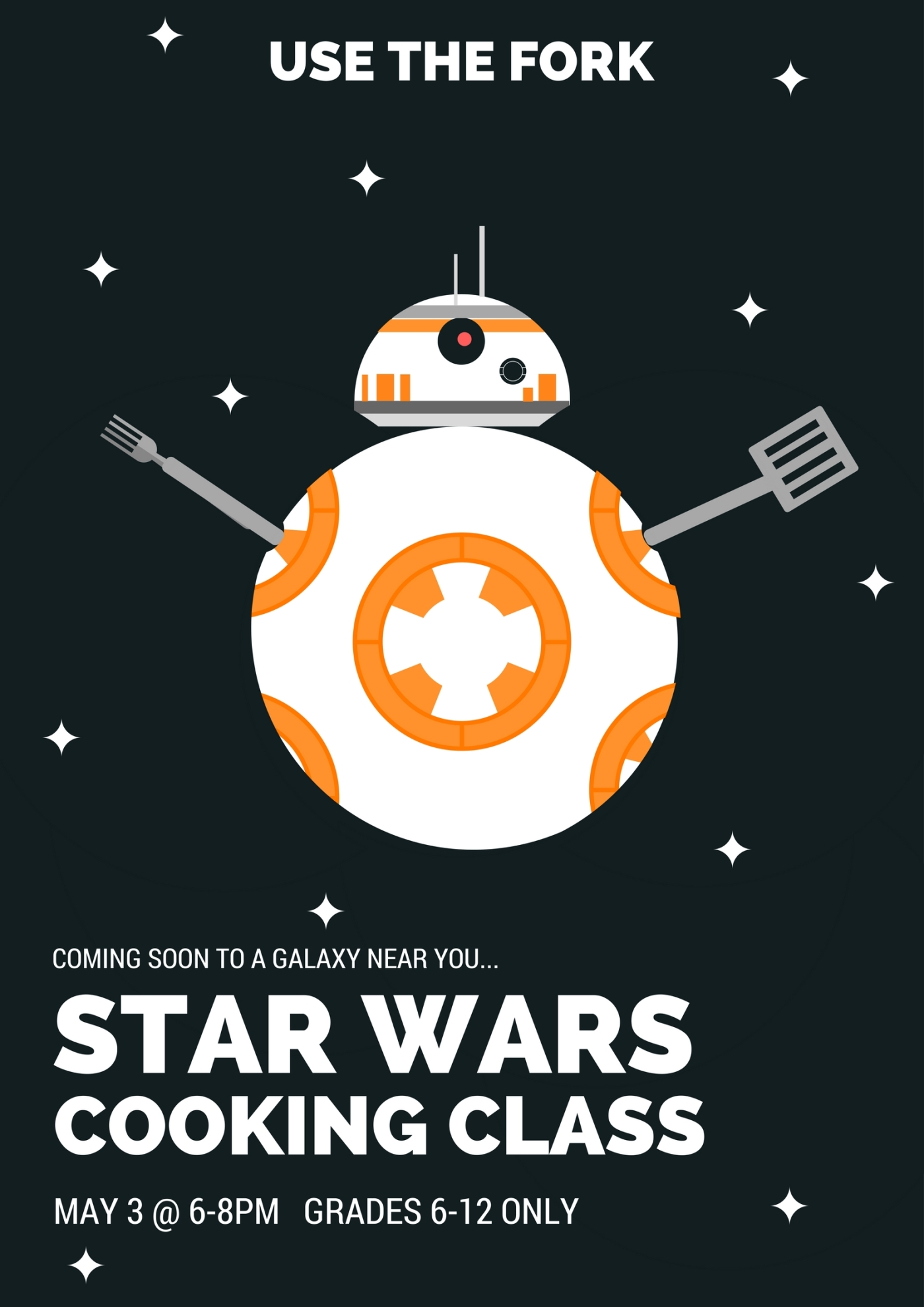 Star Wars Cooking Class flyer