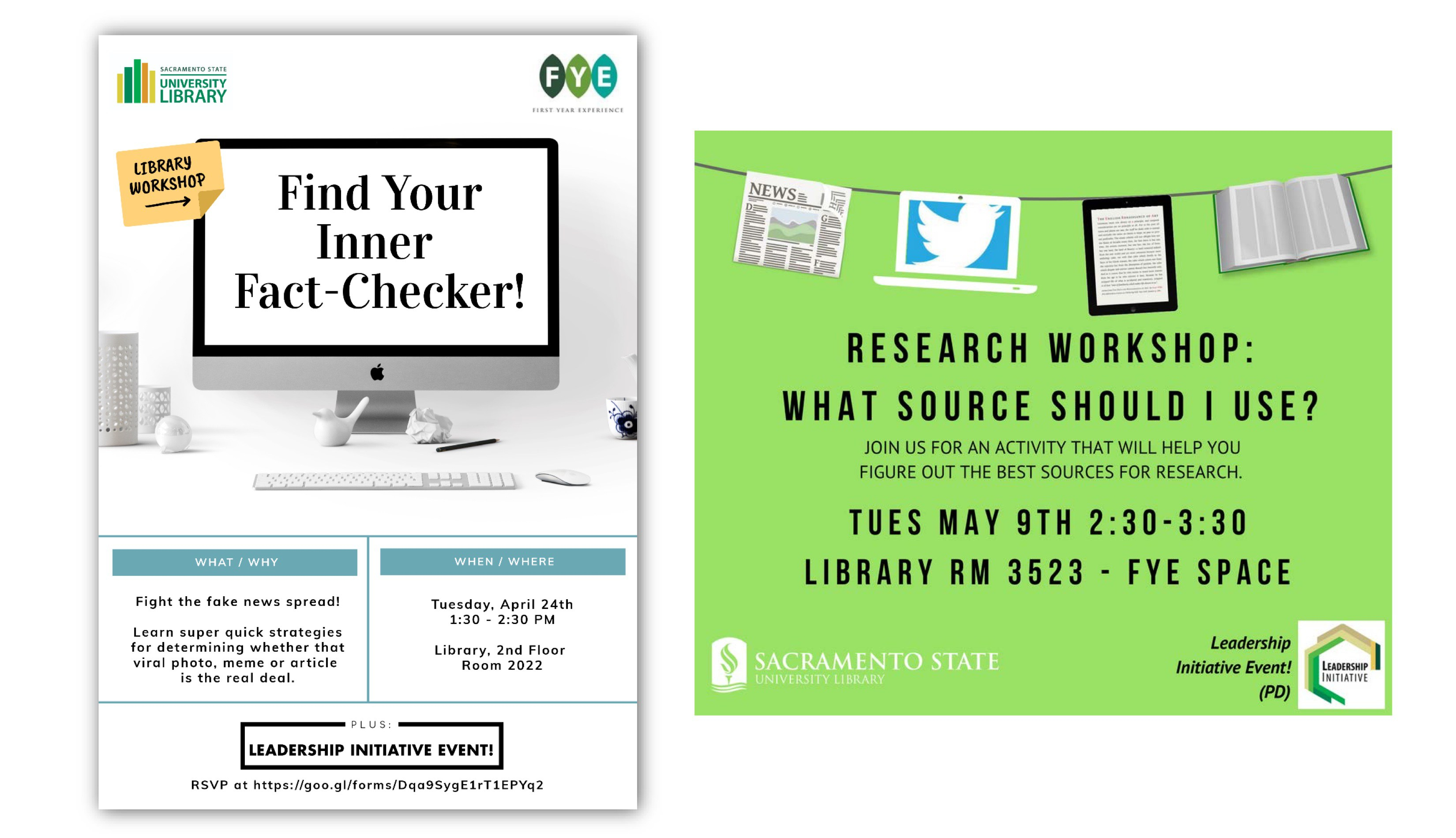 research workshop promotional flyers
