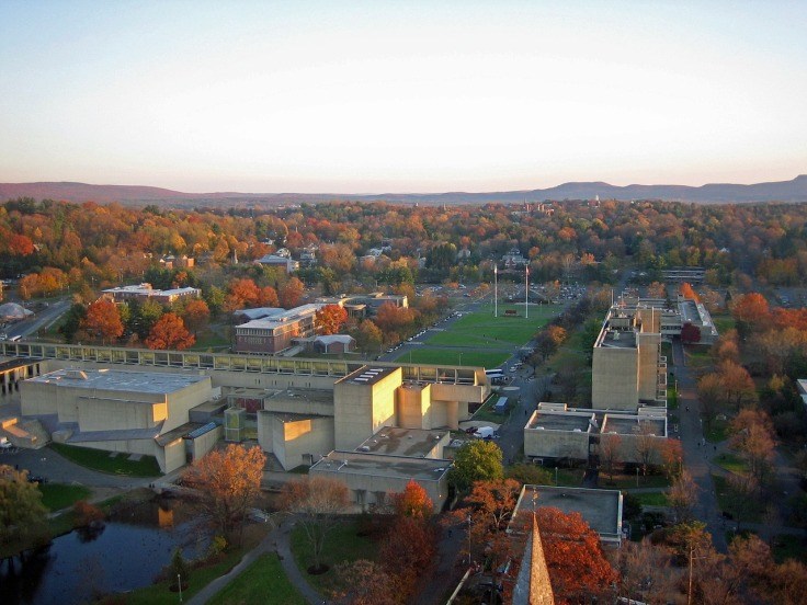 Photo of the University of Massachusetts Amherst campus in the fall